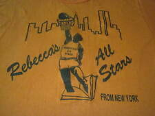 Rebeccas All Stars From New York Rare Vintage 70S Basketball Shirt