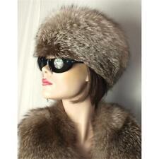 Fur Hat Silver Fox Cap Hat Ladies Blue Fox Bluefrost Fur Cap Natural