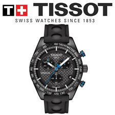 NEW GENUINE TISSOT PRS 516 CHRONOGRAPH BLACK RUBBER STRAP WATCH T1004173720100