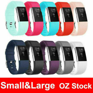 Silicone Watch Wrist Sports Strap For Fitbit Charge 2 Band Wristband Replacement