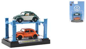M2 MACHINES AUTO-LIFT 2 PACK GREEN & ORANGE 1953 VOLKSWAGEN BEETLE [PREORDER]