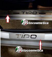 Modanature Battitacco Acciaio Satinato Logo Cromo Fiat Nuova Tipo Made in Italy