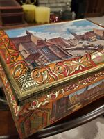 E Otto Schmidt Nurnberg Large Collectible Biscuit Tin Box 1996-Made In Germany