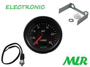 52MM Calibro di Spinta E Sensore Kit Nero Viso 30PSI Elettronica Step Motore Auw