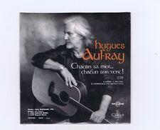 CD SINGLE PROMO(NEUF) HUGUES AUFRAY CHACUN SA MER CHACUN SON VENT
