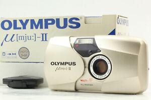 """Near MINT w/ BOX Controller"" Olympus mju II Silver Stylus Epic 35mm Film Camera"