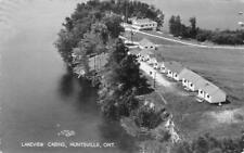 RPPC LAKEVIEW CABINS Huntsville, Ontario, Canada 1953 Vintage Postcard