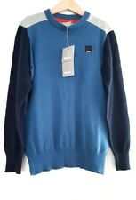 Bench boy jumper pullover knitwear colour block Blue grey 6-7years BNWT NEW £27