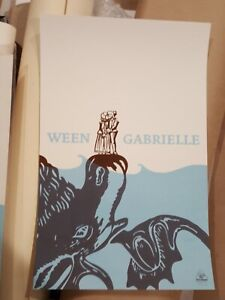 WEEN Print Poster Gabrielle 2006 Numbered 118/200 Schnitzel Records Promo OOP