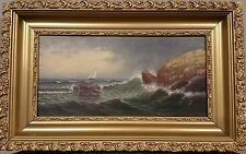 D.A. Fisher, Rocky Coast Scene, Signed and dated. 1898