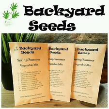HEIRLOOM Spring/Summer Vegetable and Herb Seed Collection, 10 packets