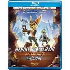 Blu-ray Ratchet & Clank 2D + 3D region ALL sealed animation Stallone P. Giamatti
