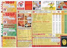 PUBLICITE ADVERTSING BANDE DESSINEE PIZZA HUT BOB ET BOBETTE