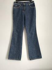 Escada 100% Cotton Blue  Boot Cut Women's Jeans Size 36