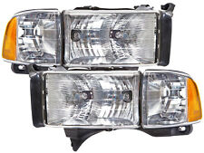 99-01 Dodge Ram Sport Pickup Headlights Headlamps Pair Set 1500 2500 3500 New