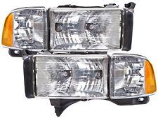 Headlamps Pair Set Fits 99-01 Dodge Ram Sport Pickup 1500 2500 3500