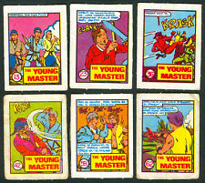 6 Vintage EXOTIC THE YOUNG MASTER Philippine TEKS / Trading Comic Cards 2