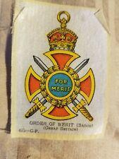 Vintage Tobacco silks silk Order of Merit Great Britain