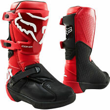 Fox COMP MX Motocross Offroad Boots Flame Red Youth Kids Size Uk 1 Us 2 was £155