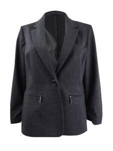 Kasper Women's Plus Size Zip-Pocket Blazer