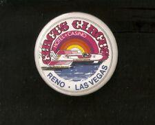 "1981 Circus Circus 4-Point Hydroplane 3"" Collector Button ~ Rainbow Version"