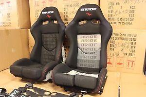 2x Bride Seat stradia lowmax, Black Fiberglass Black Gradient, Genine ADR Apr