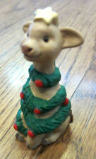 Hallmark Merry Miniatures 1992 Giraffe With Christmas Garlain And Star On Top