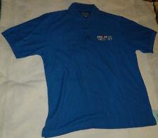 Iron Man World Championship Kailua Kona Hawaii Staff Blue Polo Shirt Mens Medium