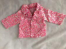 """Pink Print 6X6.5"""" (Laying Flat) PJ Shirt Doll Clothes"""