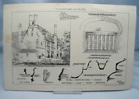 WELL HALL NR.ELTHAM KENT 19th Century Antique Architecture Victorian Print 1882*