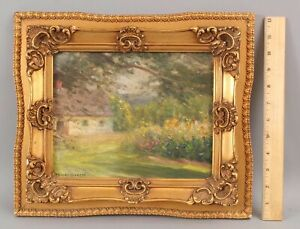 Small Antique GUSTAVE WIEGAND American Impressionist New York Landscape Painting