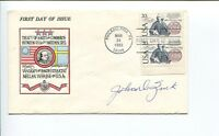 John Zink WWII War Navy Fighter Ace Signed Autograph FDC