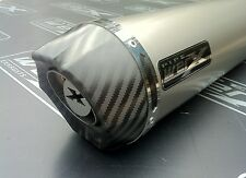 Yamaha XJR 1300 04-06 Pair of Titanium Round, Carbon Outlet Exhausts,Silencers.