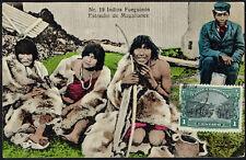 2428 CHILE INDIANS INDIOS TIERRA DEL FUEGO ESTRECHO DE MAGALLANES POSTCARD 1910