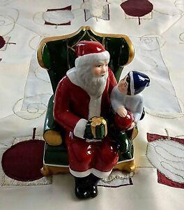 Villeroy & Boch Christmas Toys Santa auf Sessel Spieluhr NEU V&B mehr verfügbar