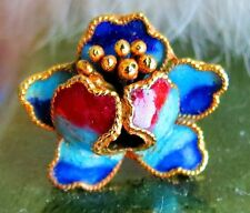 - finding part crafts small pi Beautiful Chinese cloisonne enamel flower charm