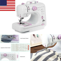 Multifunction Electric Overlock 12 Stitches Sewing Machine US Household Sew Set