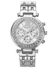 Damen Armbanduhr Edelstahl Quarz Uhr Silber Luxus Uhr
