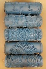 Rollerwall Brand Patterned Rubber Paint Roller Lot Of 5 Used Made In Germany