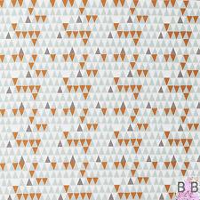 Vtg Retro 50s 60s Marimekko Heals Era Scandinavian Fabric Remnants Blue Orange