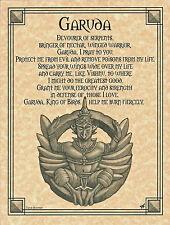 GARUDA Prayer Shaman Poster Animal Spirit Guide Buddhist Hindu Art Wicca