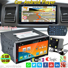 "6.95"" Double DIN Android Wifi GPS Nav Car In Dash USB/SD/AUX/MP3/CD DVD Player"