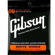Gibson Brite Wires Seg-700ul Scalatura 09-042 per Chitarra elettrica Les Paul