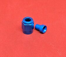 """-3AN Tube Sleeve Tube Nut AN3 Fitting Adapter to 3/16"""" BLUE nitrous brake"""