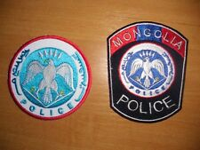 PATCH POLICE MONGOLIA - ORIGINAL! lot 2 national patches.