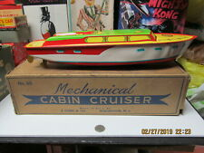 "Chein Princess Pat Wind Up Tin Cabin Cruiser Boat In Box 15"" Near Mint 1950'S"