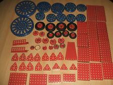 Märklin Metallbaukasten  verschiedene blaue  + rote Teile  Erhaltung siehe Foto