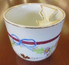 Vintage CT Carl Tielsch Painted Flowers Ribbon Gold Mustache Shaving Mug Cup