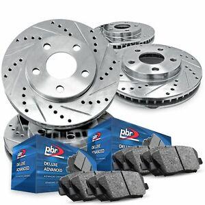 For 2016-2018 Ford Edge Full Kit PBR AXXIS Drill/Slot Brake Rotors+Ceramic Pads