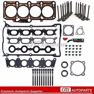 AUDI VW 1.8L Turbo 20V Head Gasket Set+Bolts+Intake and Exhaust Valves Kit